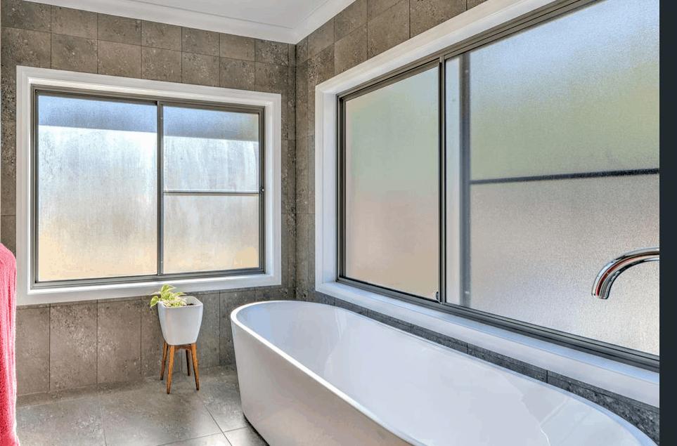 awning windows in a bathroom