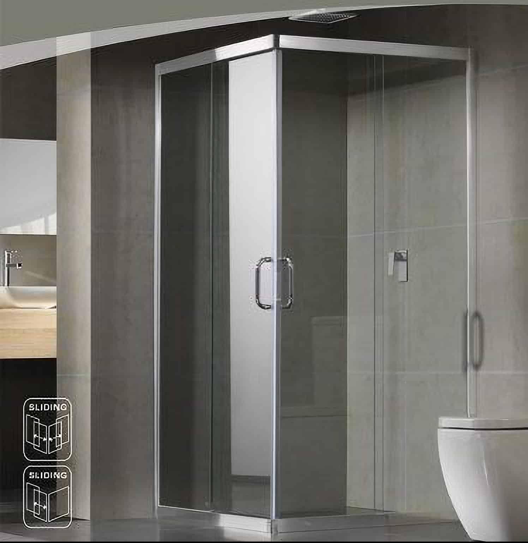 corner shower frameless doors