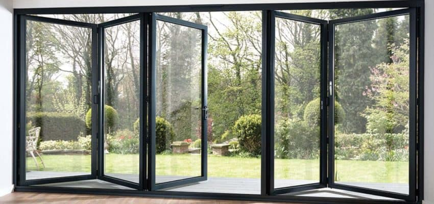 Aluminium-framed BiFold Doors