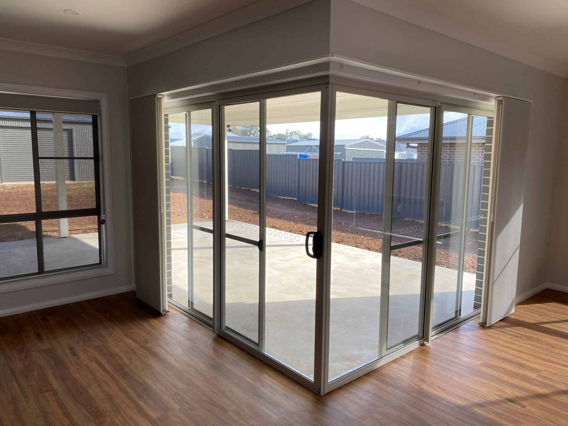 sliding glass doors in a house