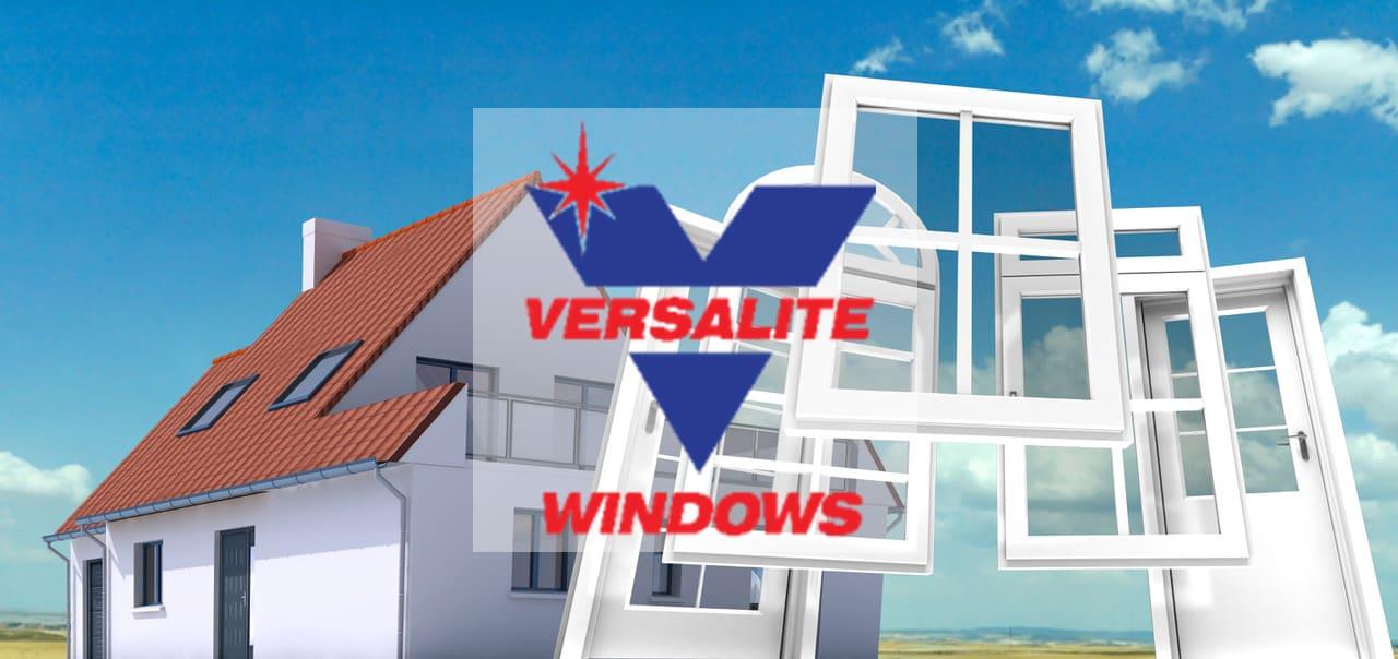 Versalite Windows animated design of a house, doors and windows
