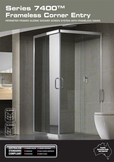 Series 7400™ frameless corner entry