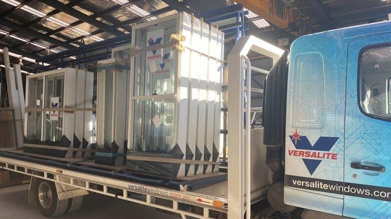 versalite truck with aluminium windows