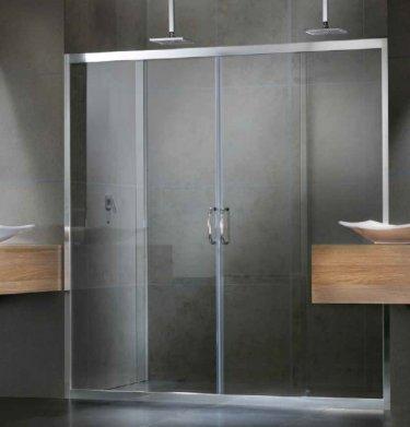 frameless sliding shower screen by versalite windows