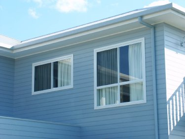house outside view of sliding windows