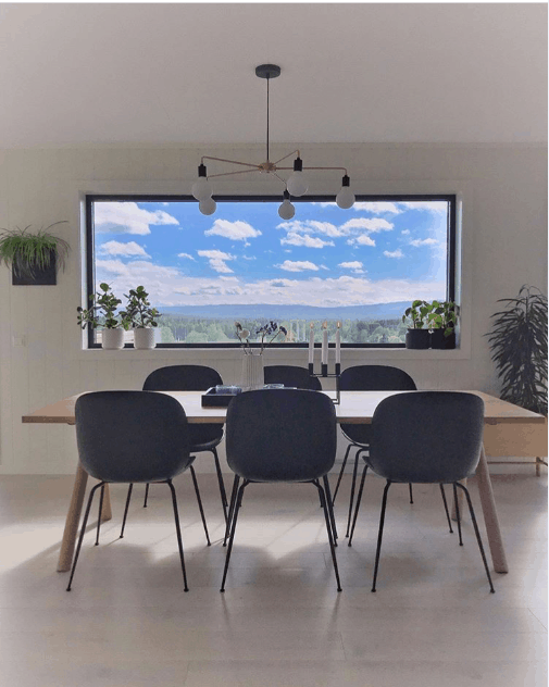 dining area with fixed windows that it's easy to watch the view from the outside