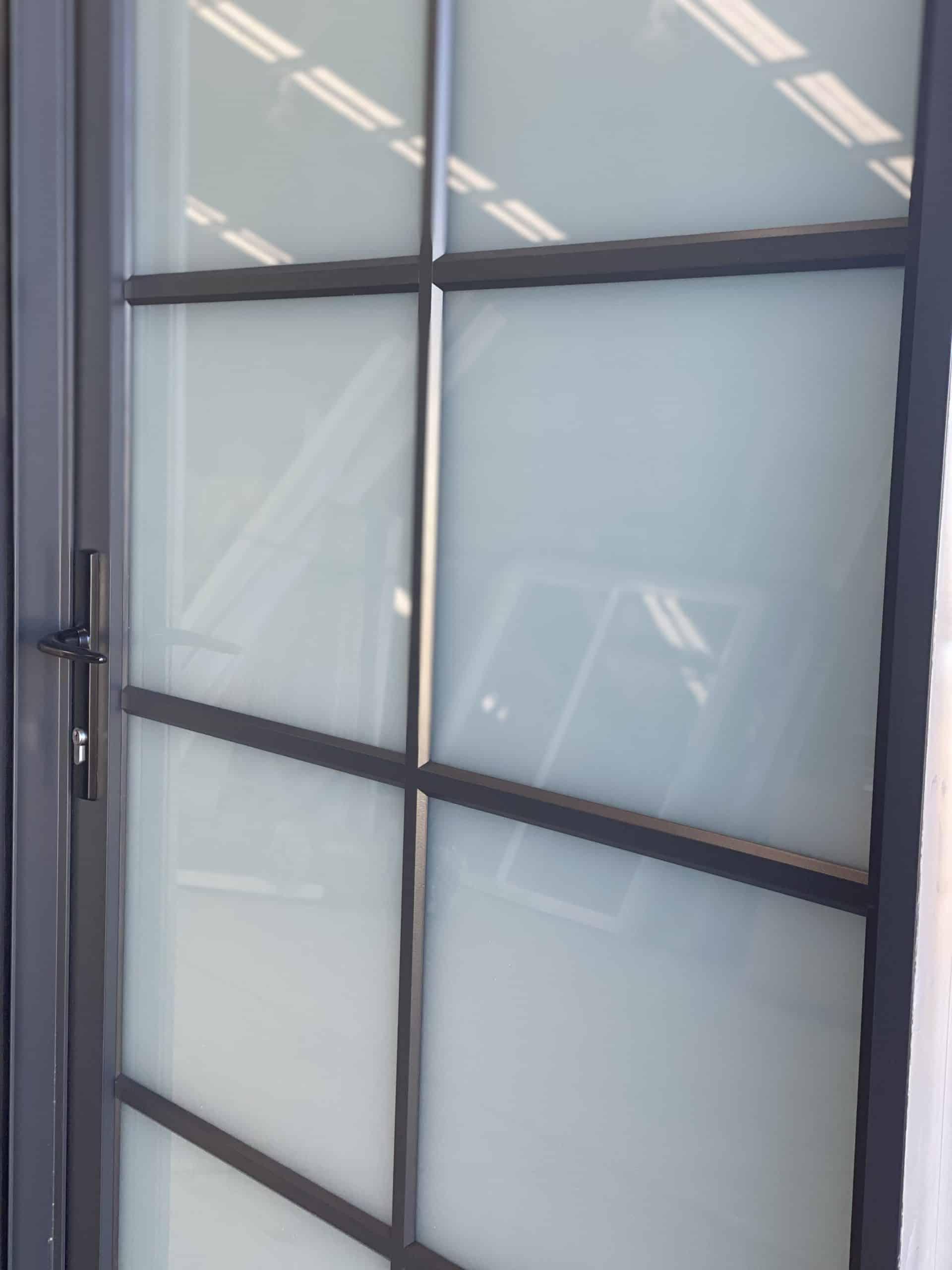 a closer look of an entrance door made by versalite windows